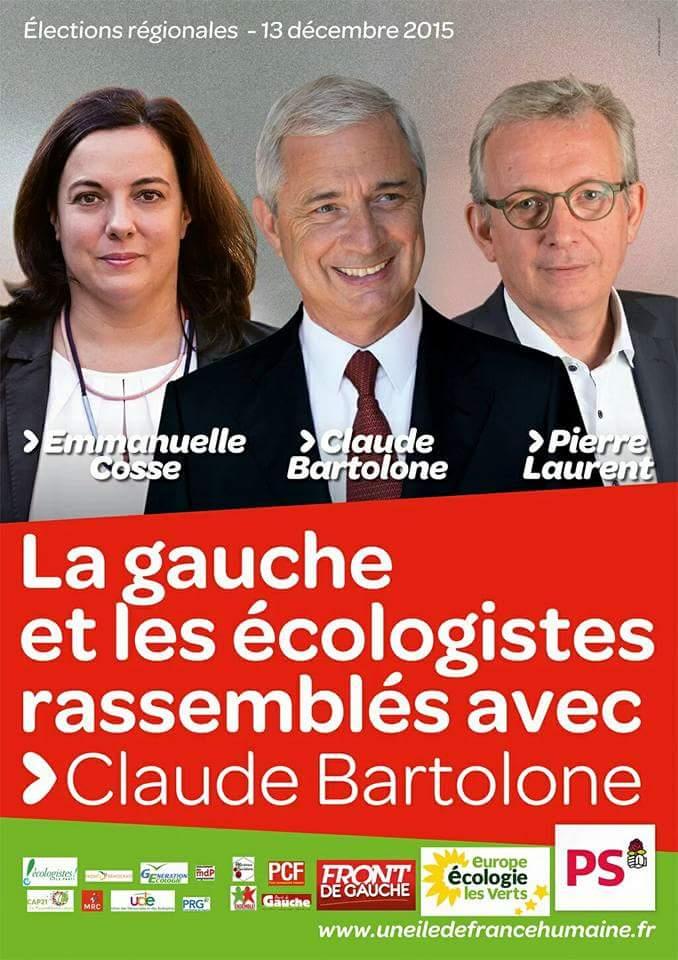 La gauche et les écologistes rassemblés avec Claude Bartolone