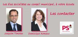 Pour contacter vos élus socialistes au conseil municipal de Montrouge