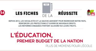 L'éducation, premier budget de la Nation – Fiche de la Réussite 54