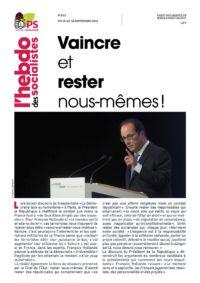 L'Hebdo des socialistes n°833 : « Vaincre et rester nous-mêmes ! »