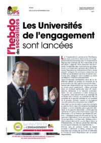 L'Hebdo des socialistes n°834 : « Les Universités de l'engagement sont lancées »