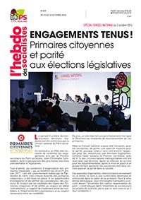 L'Hebdo des socialistes n°837 : « Engagements tenus ! Primaires citoyennes et parité aux élections législatives »