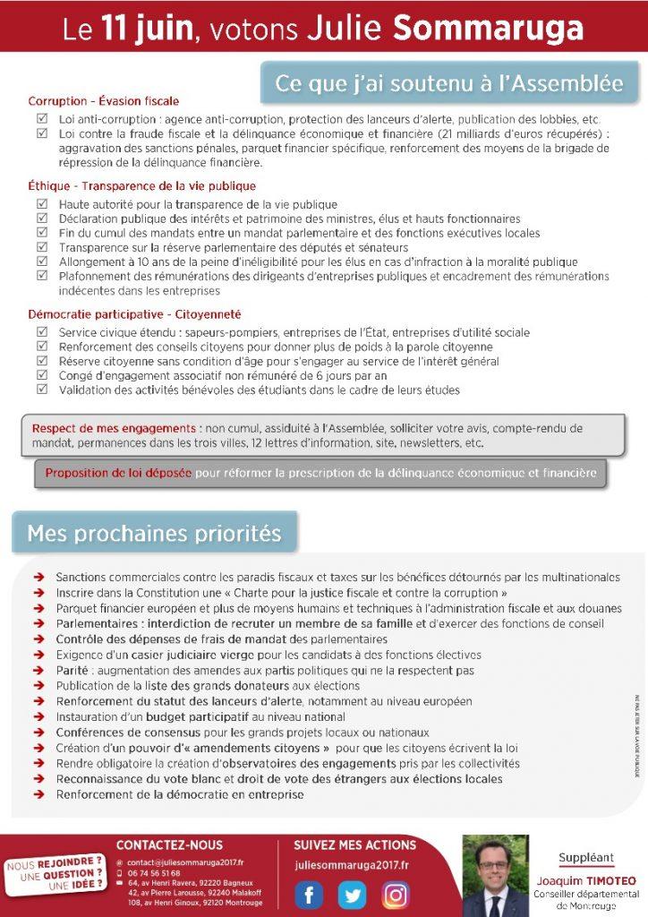 Pour une république exemplaire et citoyenne - Café-débat avec votre députée Julie Sommaruga, le 8 juin à Montrouge