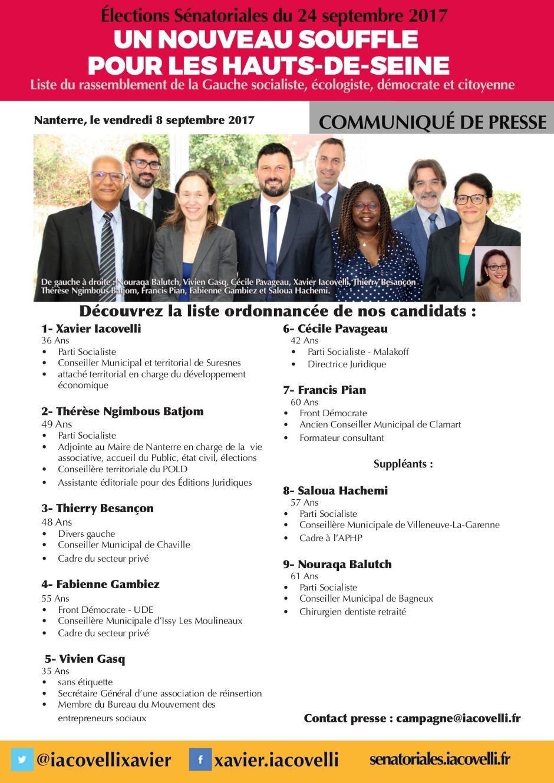 Elections sénatoriales- Un nouveau souffle pour les Hauts-de-Seine