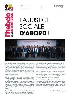 L'Hebdo des socialistes n°862 : « La justice sociale d'abord ! »