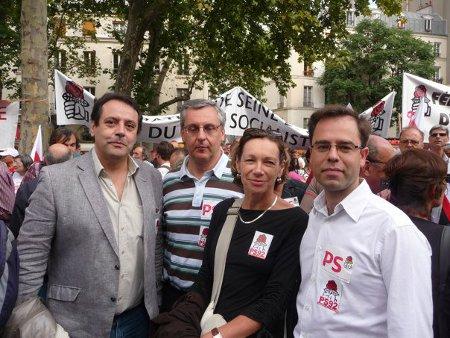 Les socialistes montrougiens à la manifestation pour les retraites