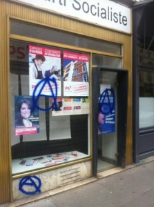 local PS Montrouge vandalise 1