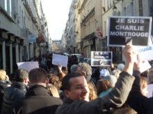 Montrougiennes et Montrougiens à la Marche républicaine à Paris