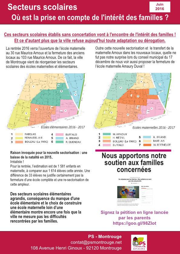 Carte scolaire : NON à la séparation des fratries - OUI à la prise en compte des demandes des parents