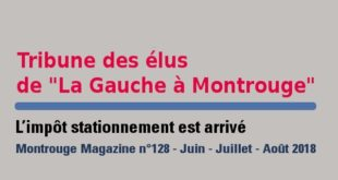 Tribune Montrouge Magazine – L'impôt stationnement est arrivé