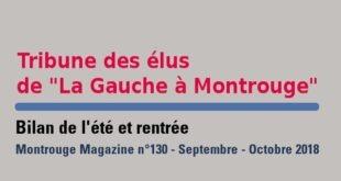 Tribune Montrouge Magazine – Bilan de l'été et rentrée