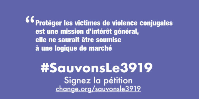 #Sauvons Le 3919