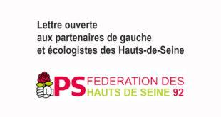 Lettre ouverte aux partenaires de gauche et écologistes des Hauts-de-Seine