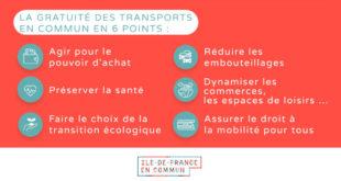 Pour la gratuité des transports en Ile-de-France avec Ile-de-France en Commun !