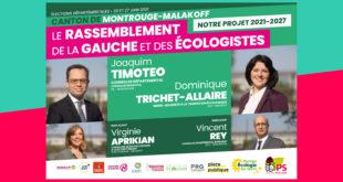 Canton Montrouge-Malakoff : dès le 20 juin, votez Dominique Trichet Allaire-Joaquim Timoteo !