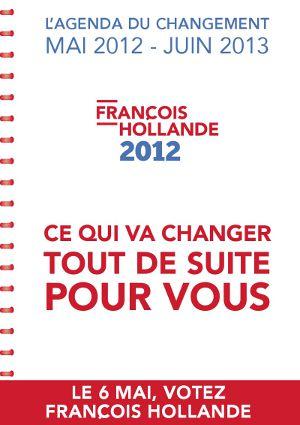 L'agenda du changement page 1 - François Hollande