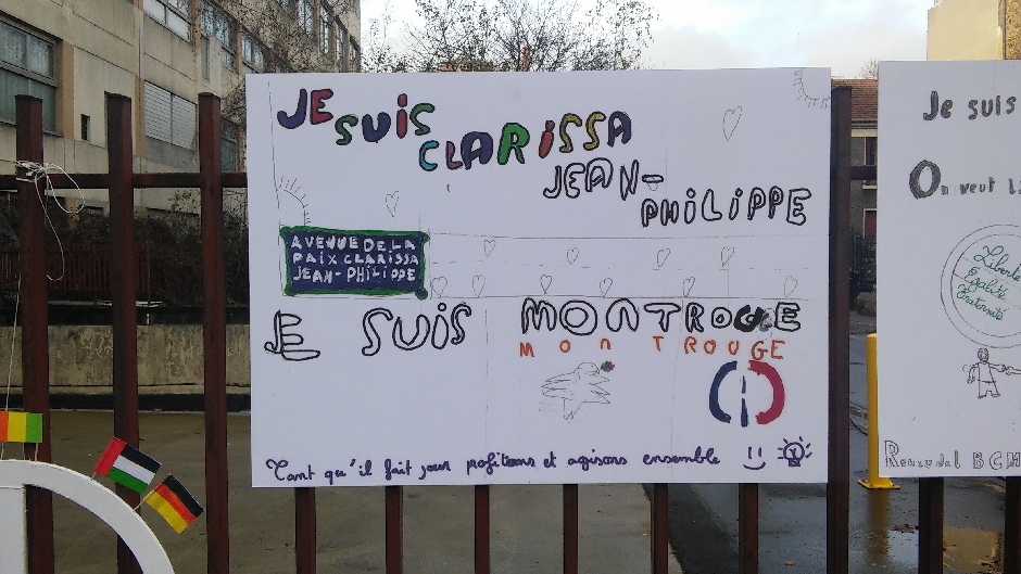 Hommage d'enfants à Clarissa Jean-Philippe