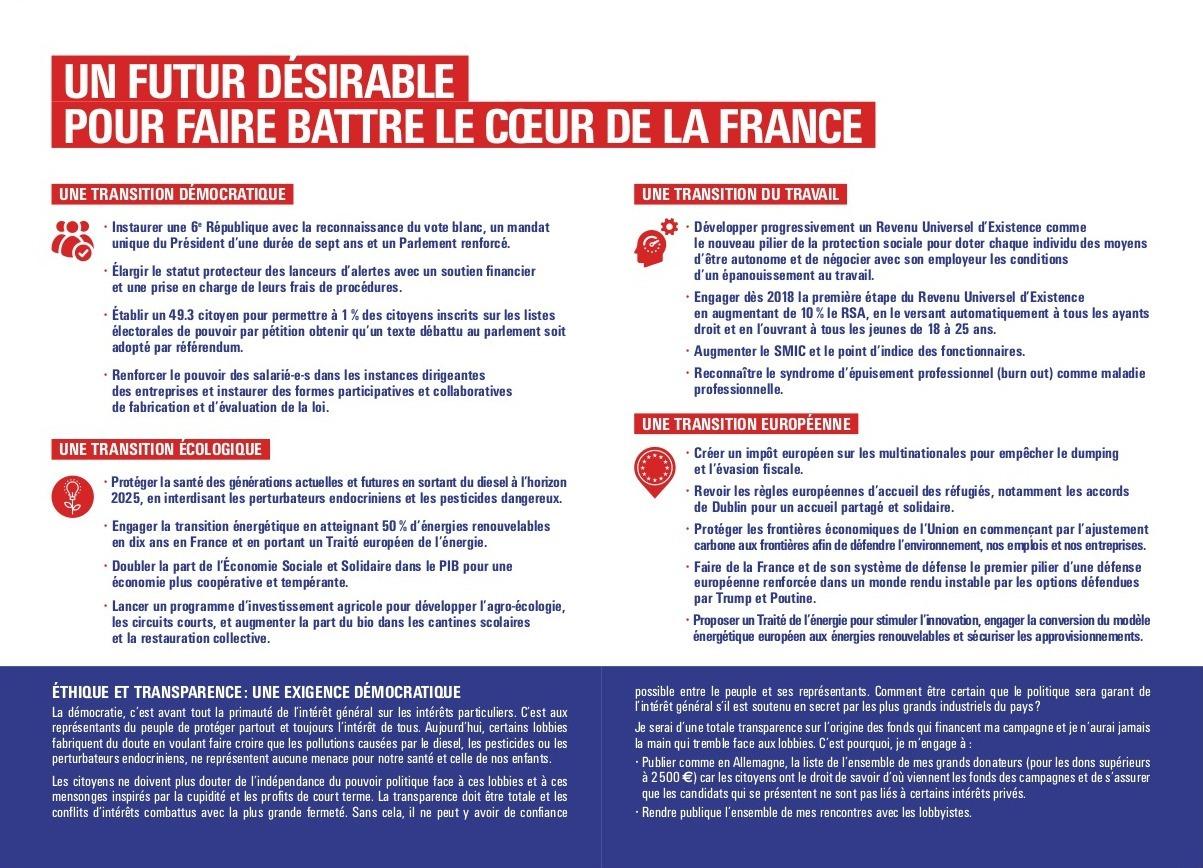 # Propositions - Un futur désirable pour faire battre le coeur de la France -