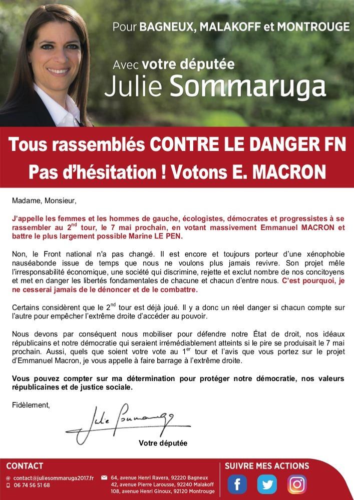 Tous rassemblés contre le danger FN - Pas d'hésitation ! Votons Emmanuel Macron