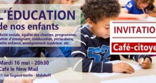 Venez débattre éducation le 16 mai à Malakoff avec Julie Sommaruga