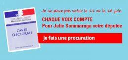 Je ne peux pas aller voter le 11 juin et / ou le 18 juin, je fais une procuration