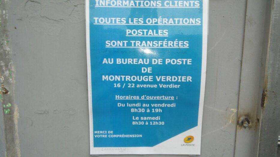 Relais Poste Urbain fermé - Service de proximité enterré