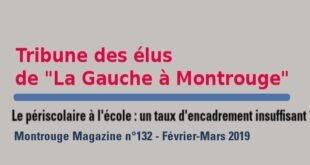 Tribune Montrouge Magazine – Le périscolaire à l'école : un taux d'encadrement insuffisant ?