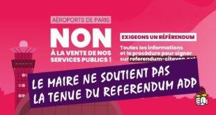 Pour le maire, le soutien au référendum ADP, c'est non