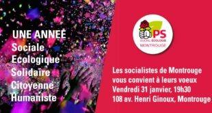 Vœux des socialistes de Montrouge – Vendredi 31 janvier 2020
