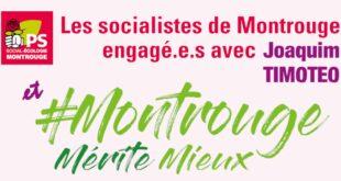Les socialistes de Montrouge engagé·e·s avec Joaquim TIMOTEO et l'équipe Montrouge mérite mieux