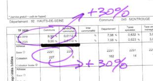Taxe foncière – A Montrouge c'est + 30% soit +3,9 M€ par an dès 2021 !